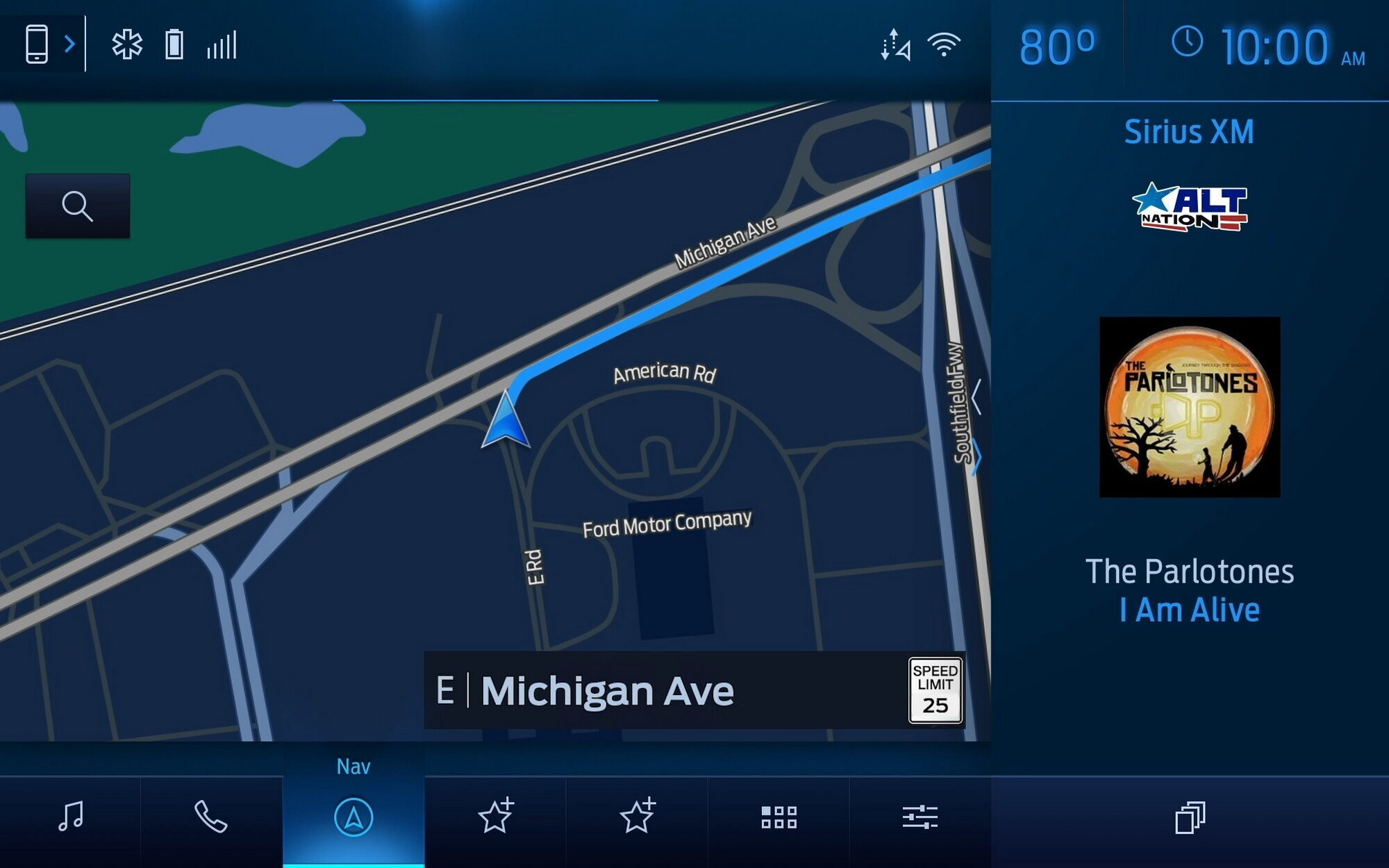 Нынешнее поколение информационно-развлекаnельной системы Ford SYNC 4 поддерживает Apple CarPlay, Android Auto и фирменный сервис SYNC AppLink