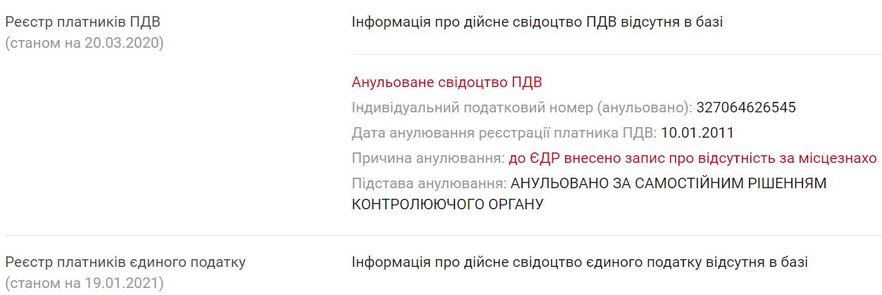 Бенефициаром СТО является Сергиенко