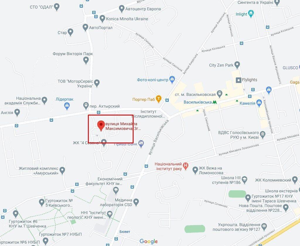 Трагедія сталася на вулиці Максимовича 3г.