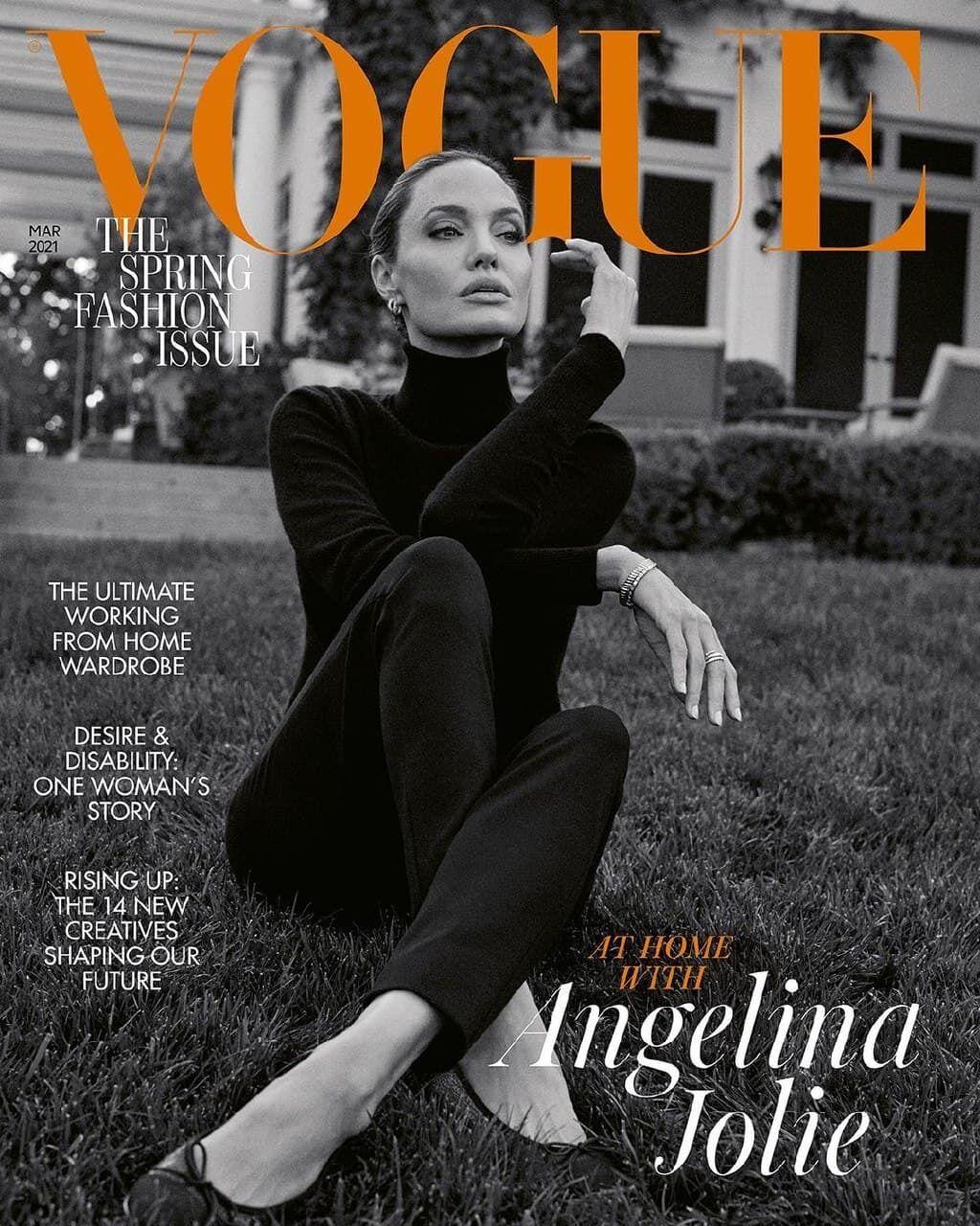 Анджелина Джоли снялась для Vogue в своем особняке