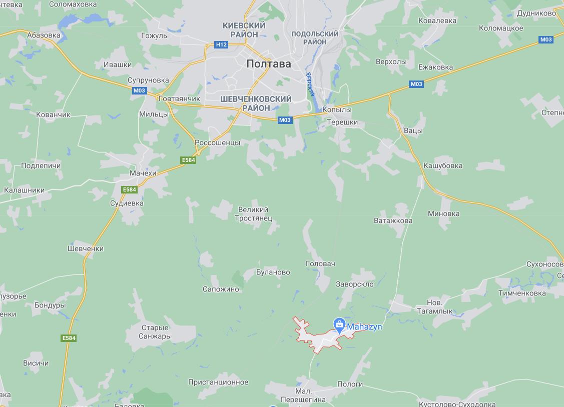 Писарівка знаходиться зовсім поруч біля Полтави