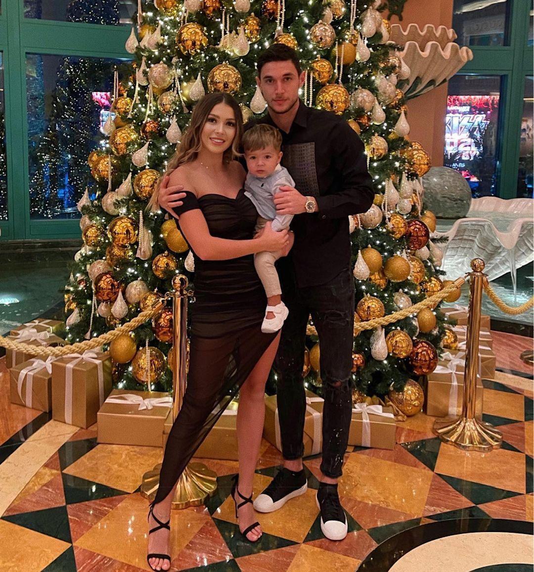 Христина Яремчук із сім'єю
