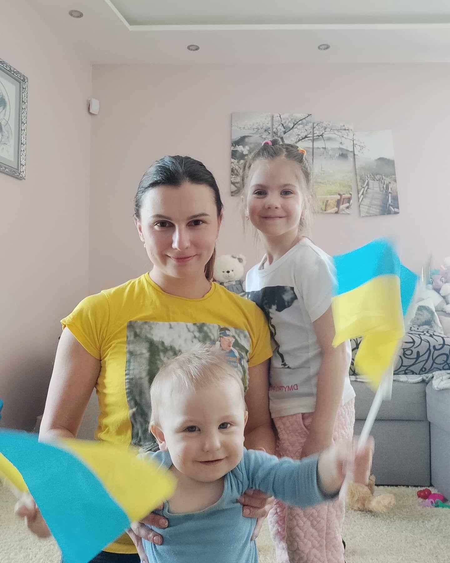 Жена Пидручного Ольга с дочкой Ириной и сыном Владимиром