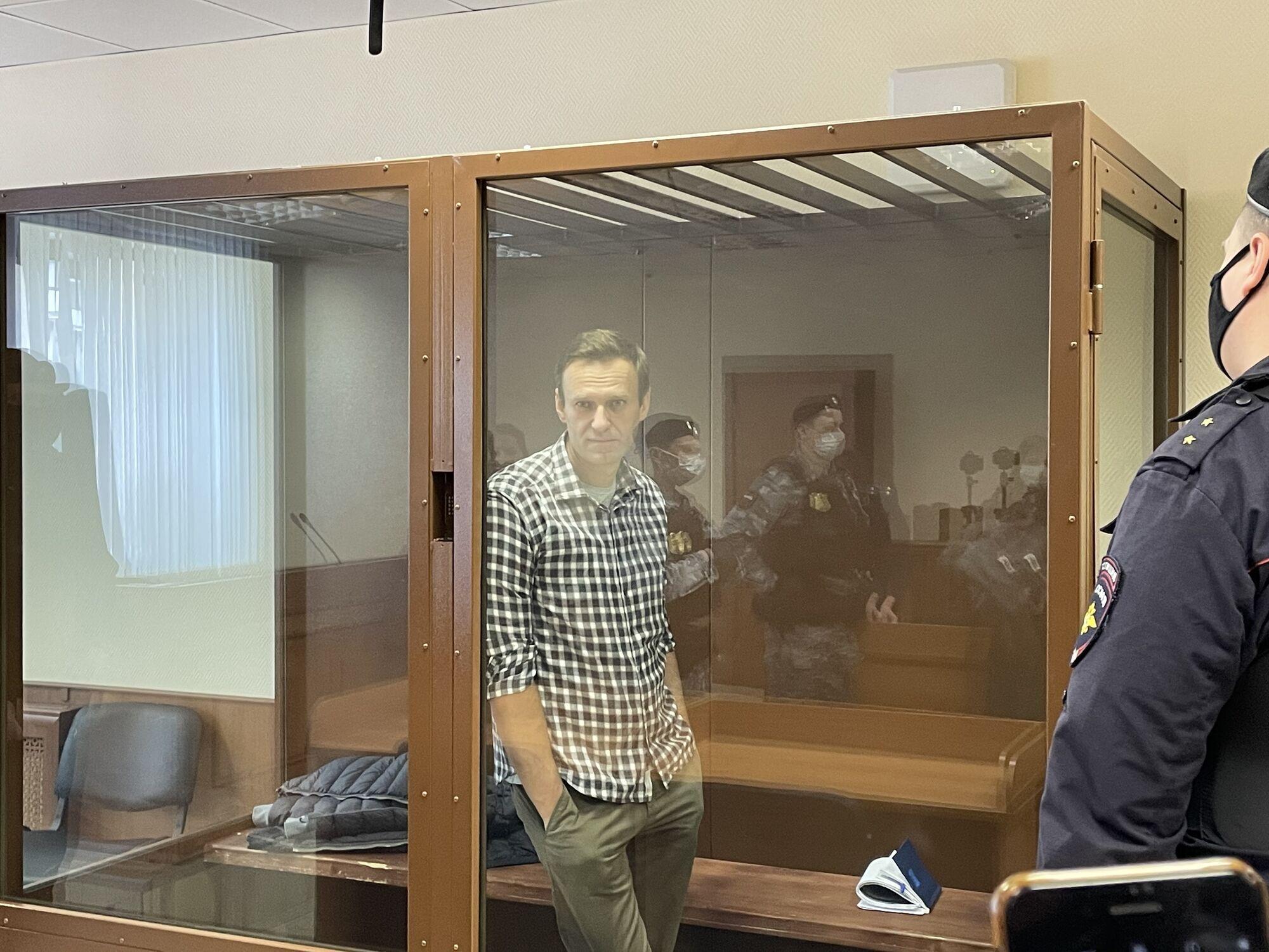 Навальний на суді