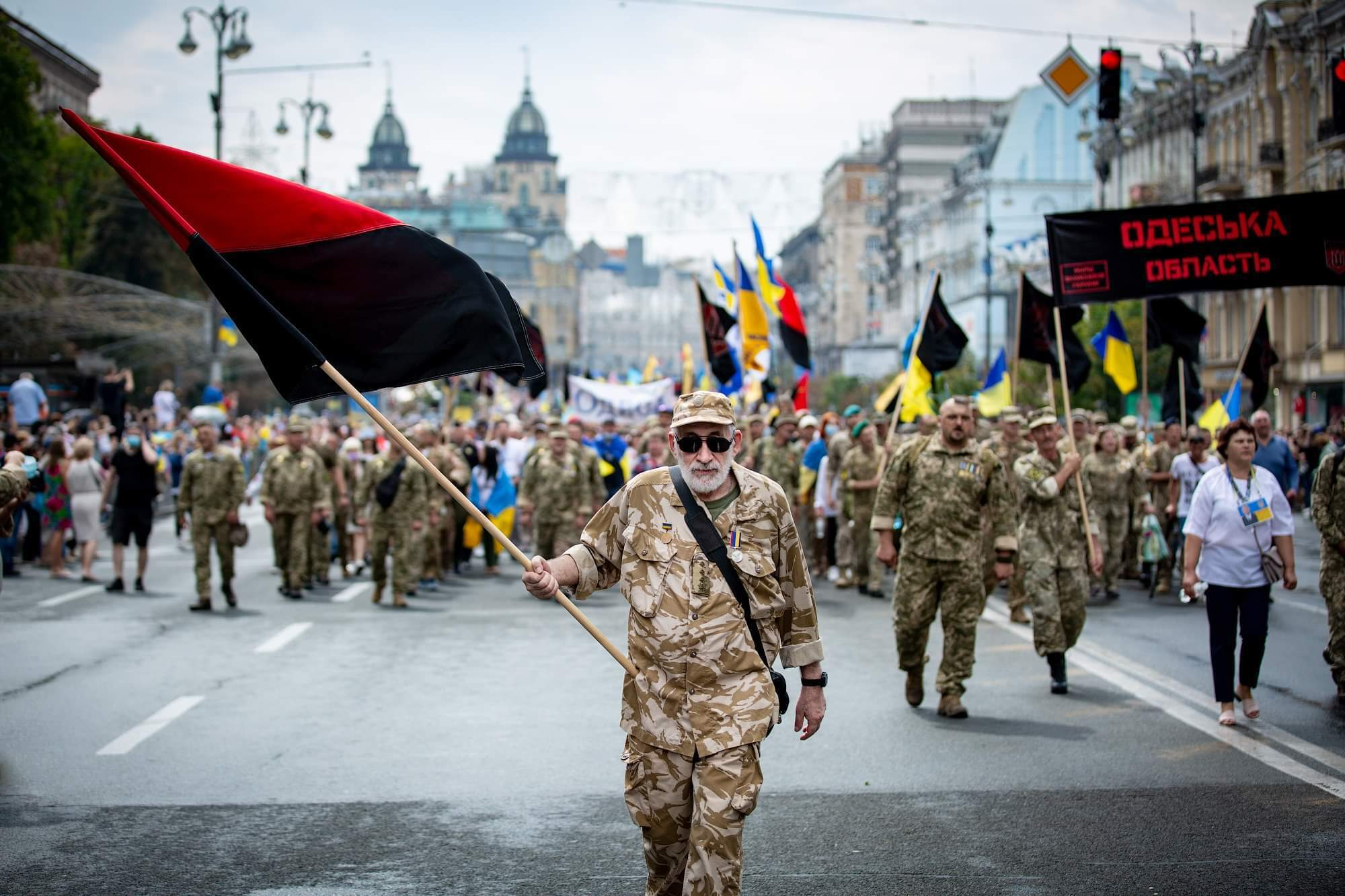 Малофеев на шествии в Киеве.