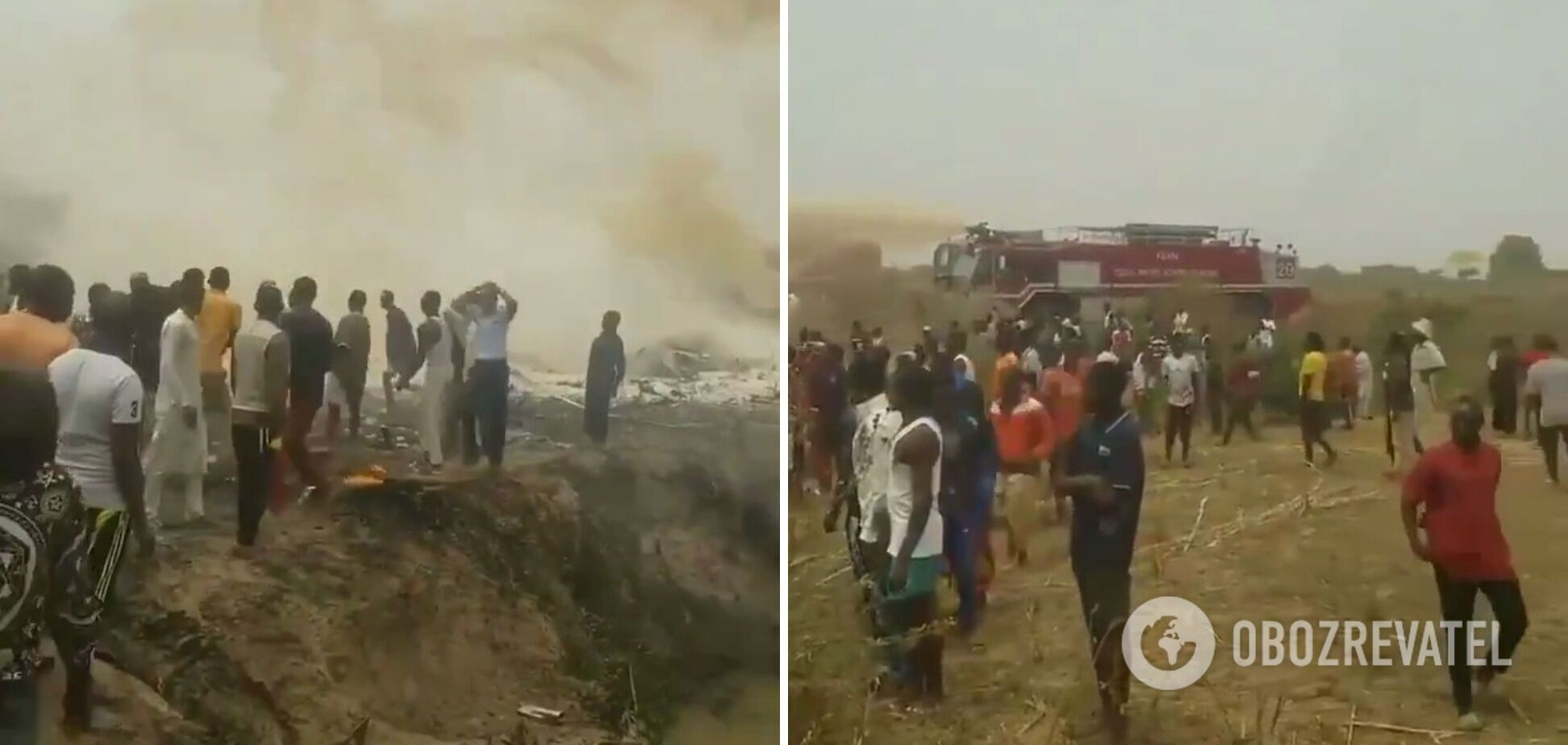 Літак згорів у полі