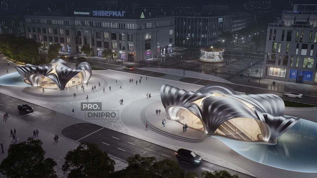Входы для новых станций спроектировало архитектурное бюро Захи Хадид