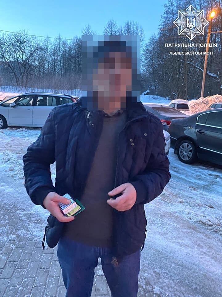 Задержание подозреваемых в воровстве во Львове.