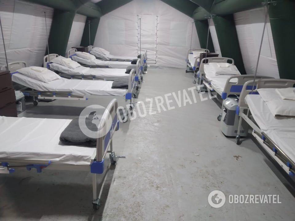 Мобільний госпіталь для пацієнтів із коронавірусом