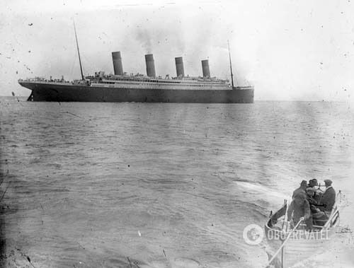 """Этот снимок Браун сделал сразу после отплытия """"Титаника"""" из Куинстауна в 13:55 11 апреля 1912 года"""