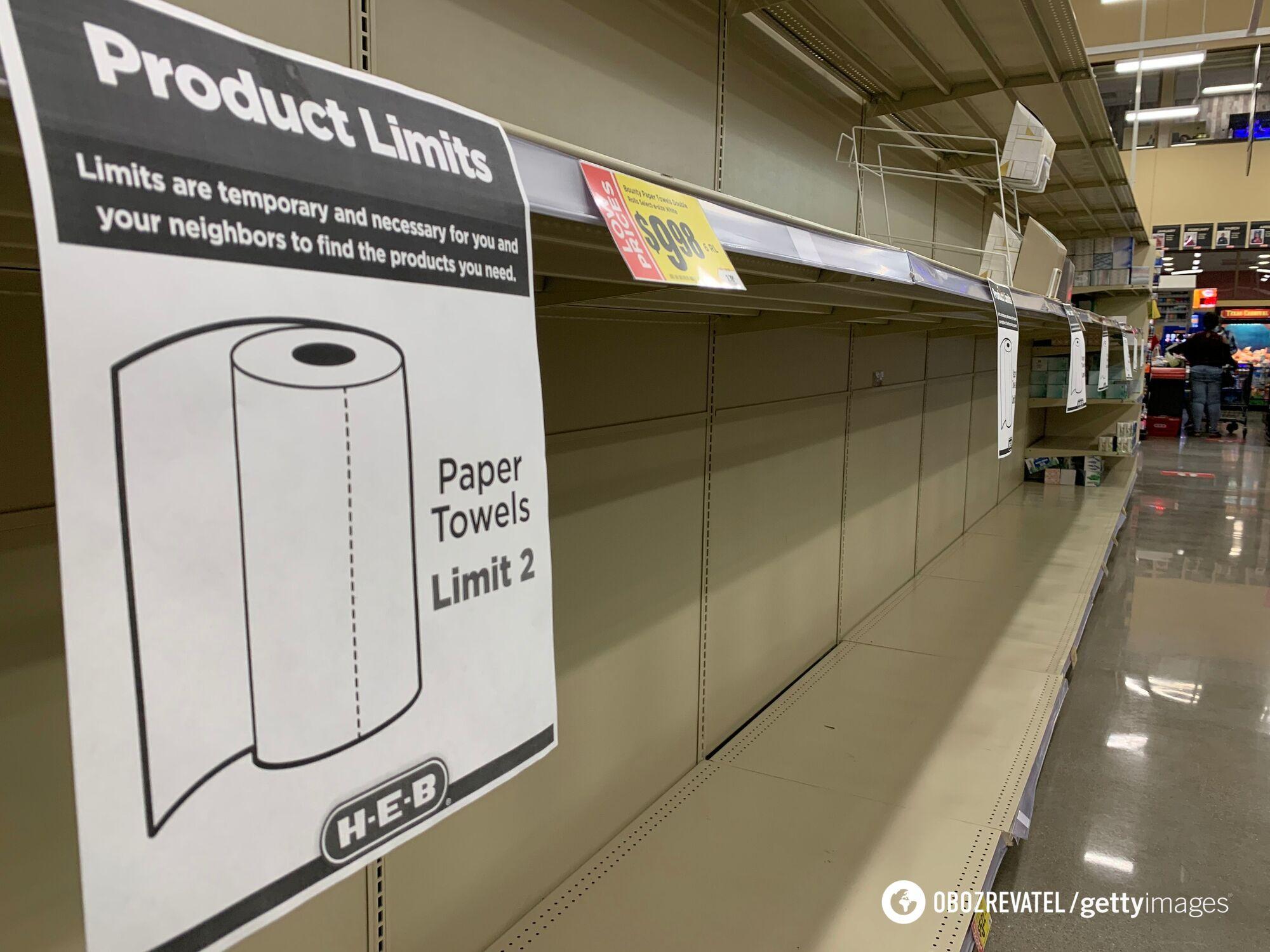 В магазинах образовался дефицит товаров