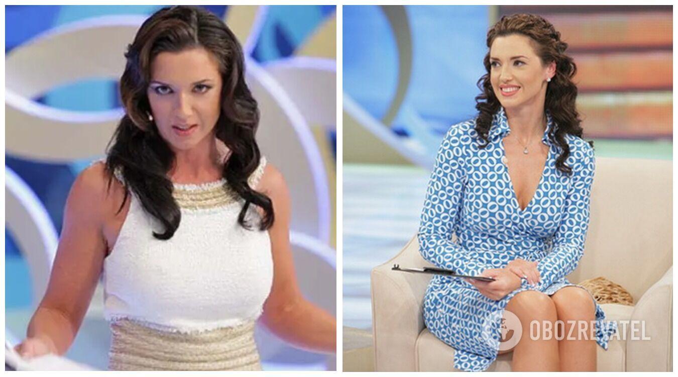 Оксана Марченко на початку кар'єри на телебаченні.