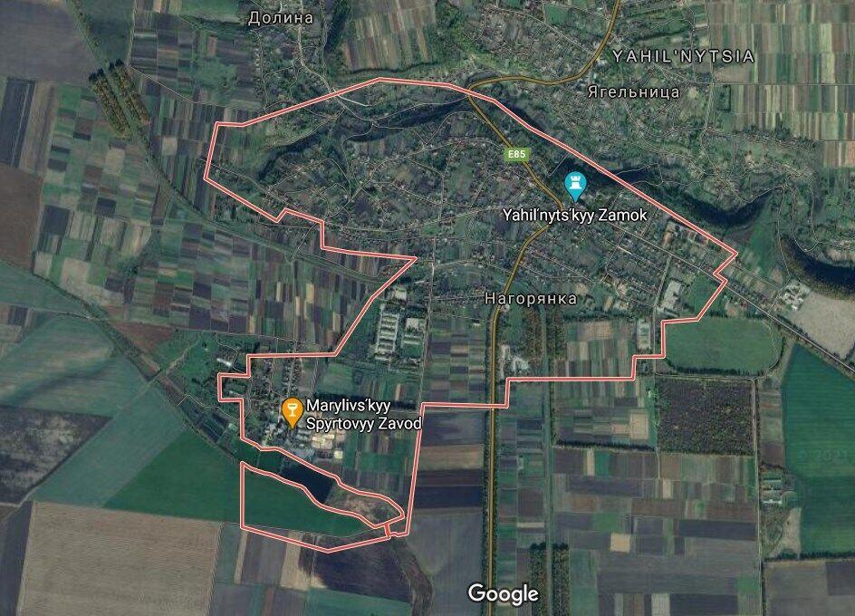 Село Нагорянка на Тернопольщине