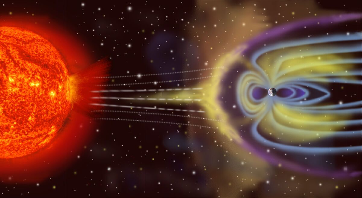 Магнитные бури вызывают мощные потоки солнечного ветра