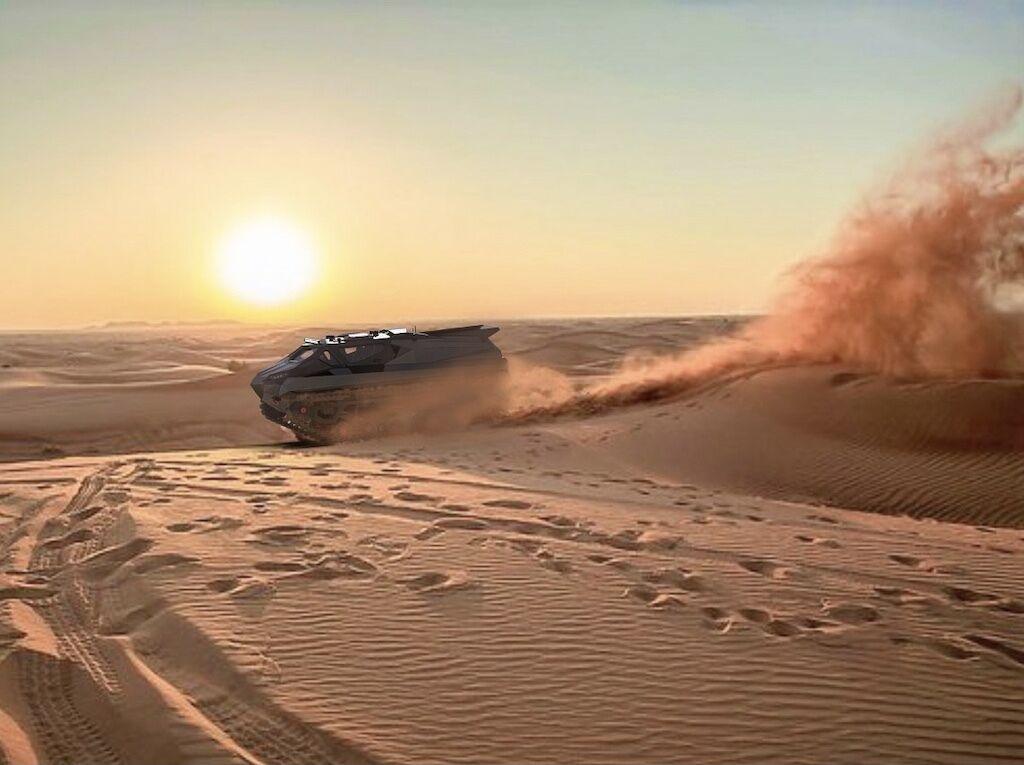 На піску автомобіль зможе розганятися до 140 км/год