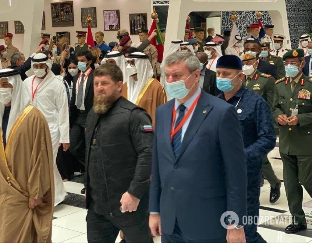 Олег Уруский и Рамзан Кадыров в Абу-Даби