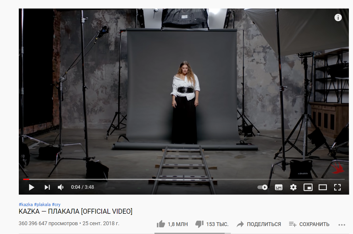 Кліп на YouTube-каналі