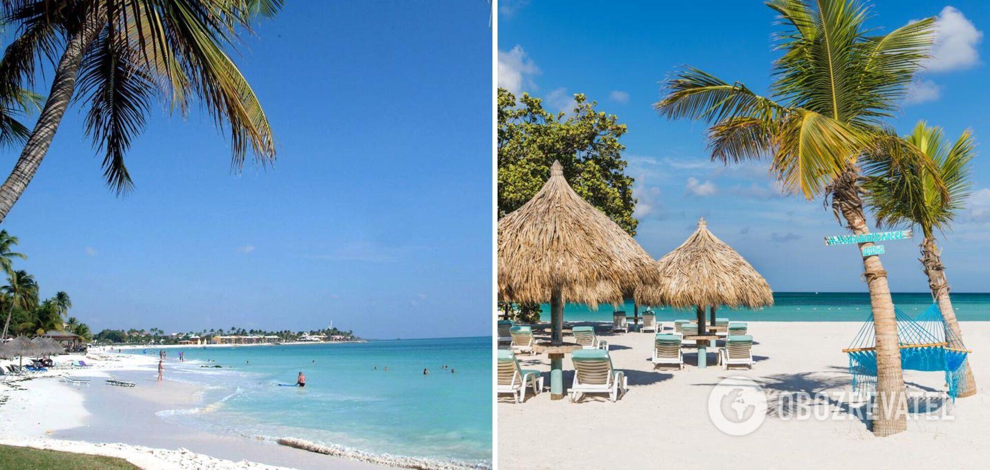 Ігл-Біч, острів Аруба на Карибах вирізнюється з-поміж інших білосніжним піском.