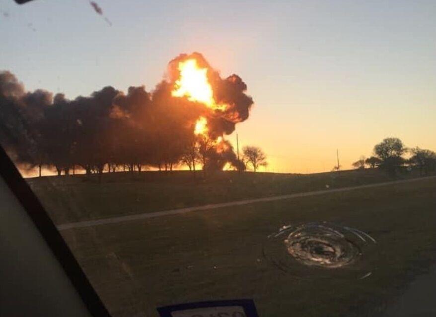 После столкновения произошел взрыв.