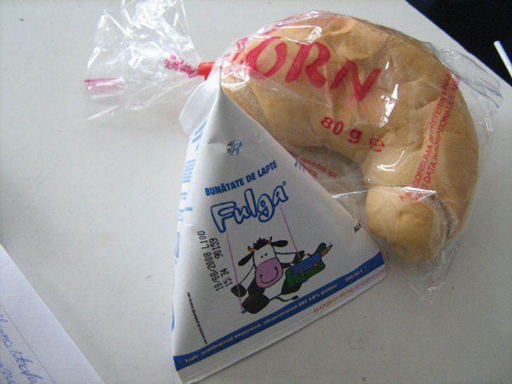 В Румынии обычно обедают в 3 часа дня. Поэтому в школе выдают только легкий перекус.