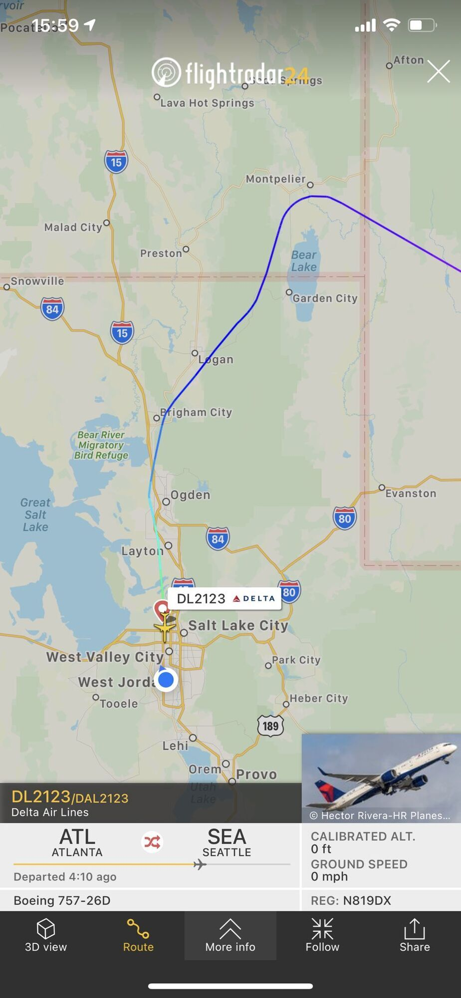 Boeing 757-200 направлялся в Сиэтл
