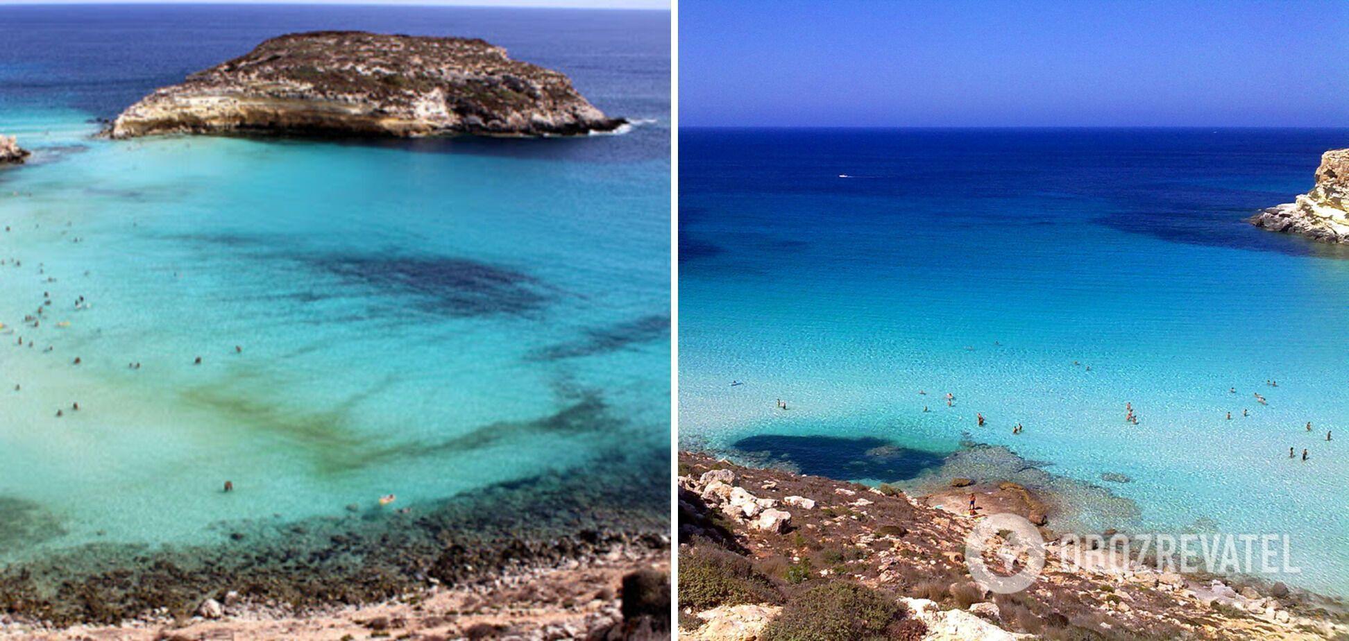 Воду на цьому пляжі називають найпрозорішою у світі.