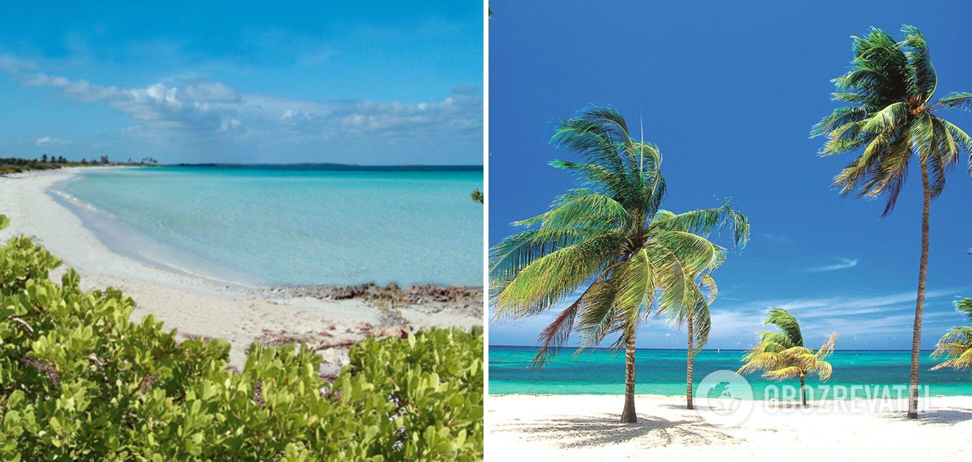 Оксамитовий пісок і блакитна океанічна вода без хвиль вабить туристів