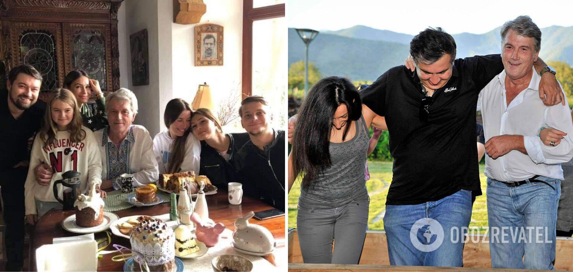 Виктор Ющенко в кругу семьи и с друзьями.