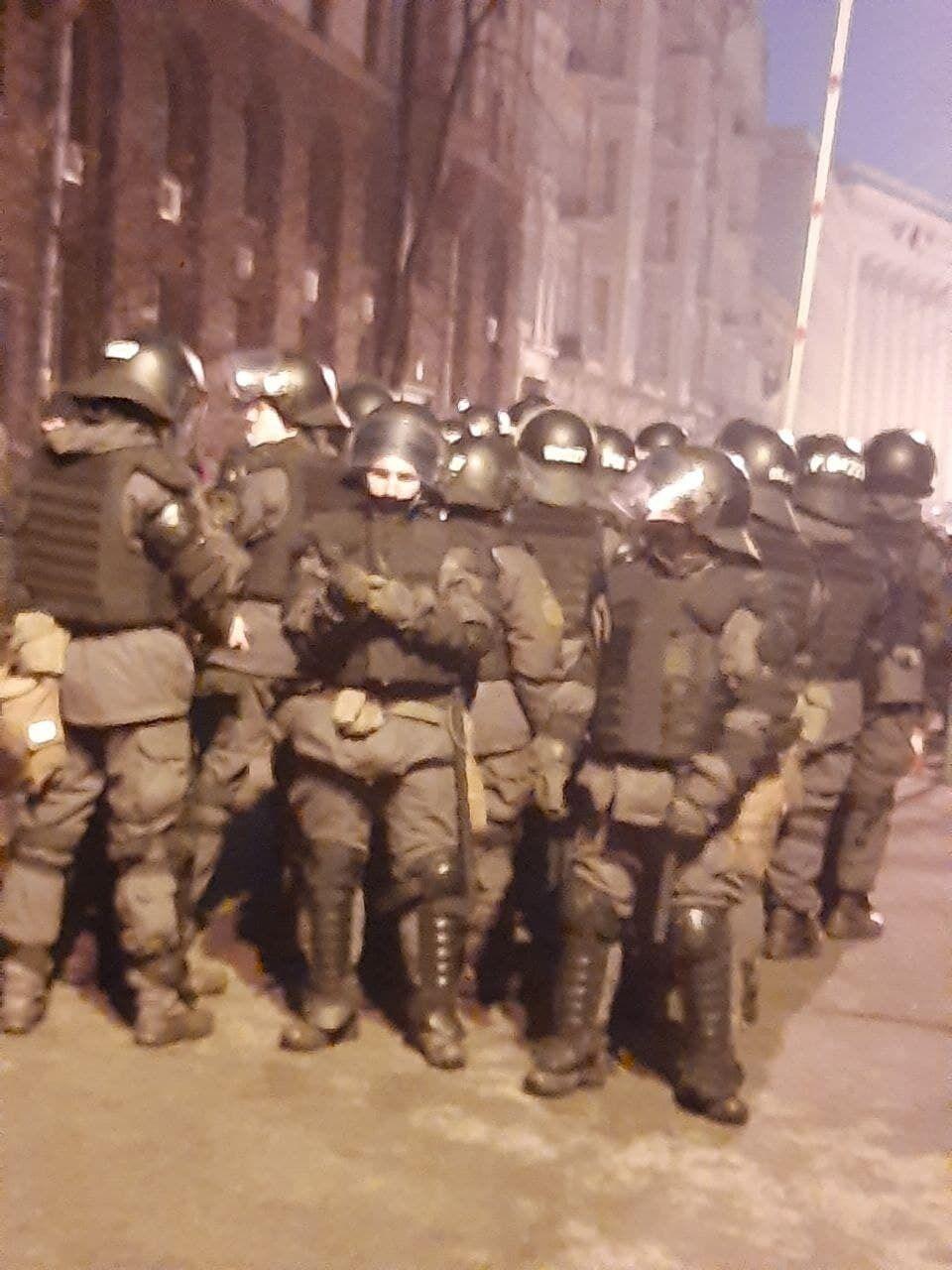 Правоохранители возле акции протеста