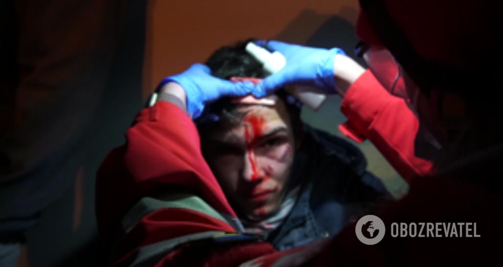 Раненый у ОПУ
