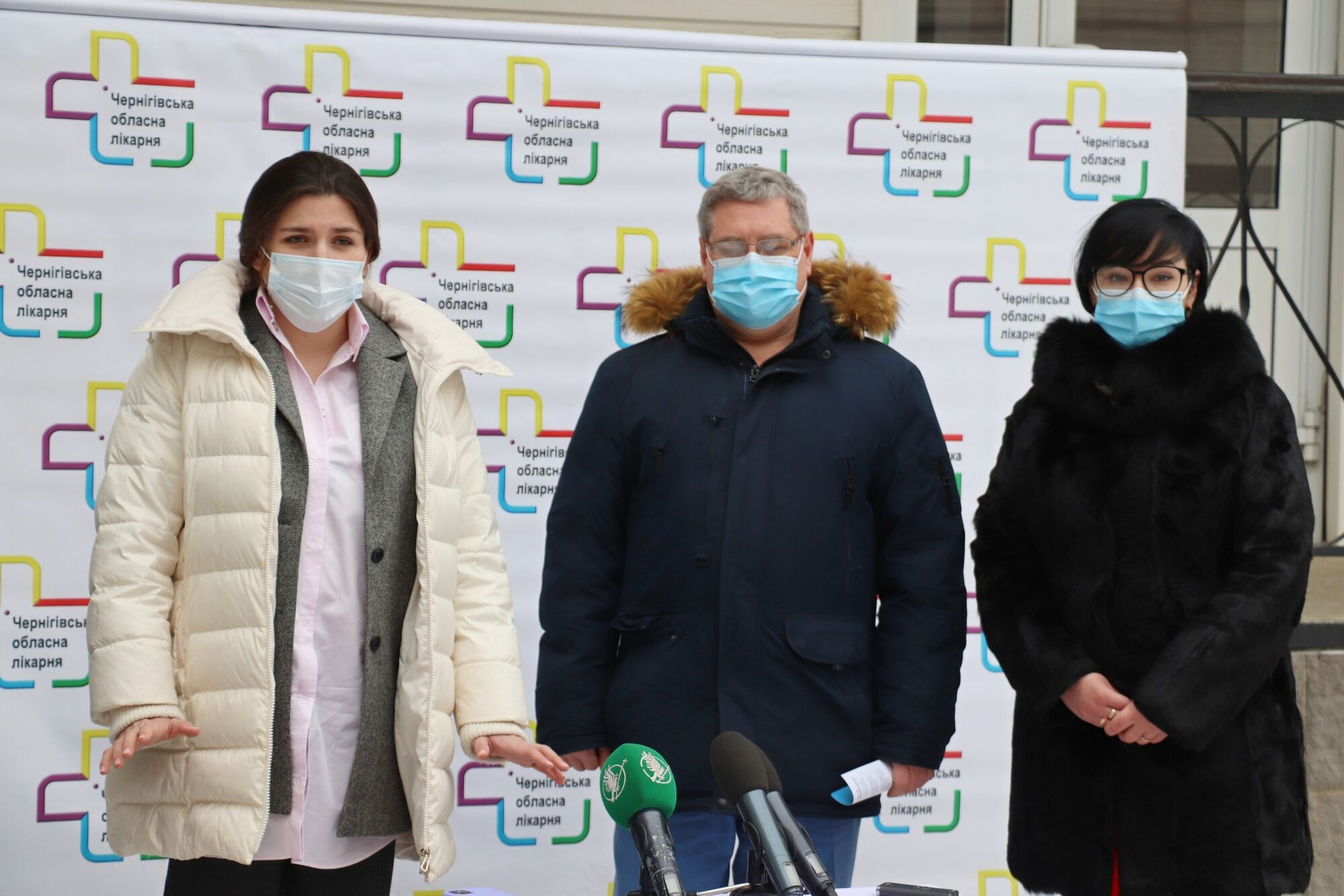 Брифінг біля Чернігівської обласної лікарні