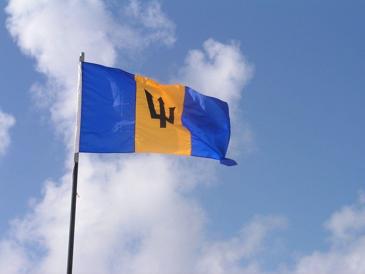 Тризуб нанесено на прапор Барбадосу