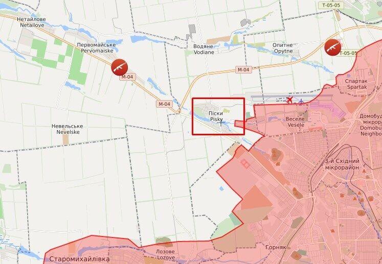Снайперський вогонь ворог відкрив по позиціях ЗСУ в районі селища Піски.