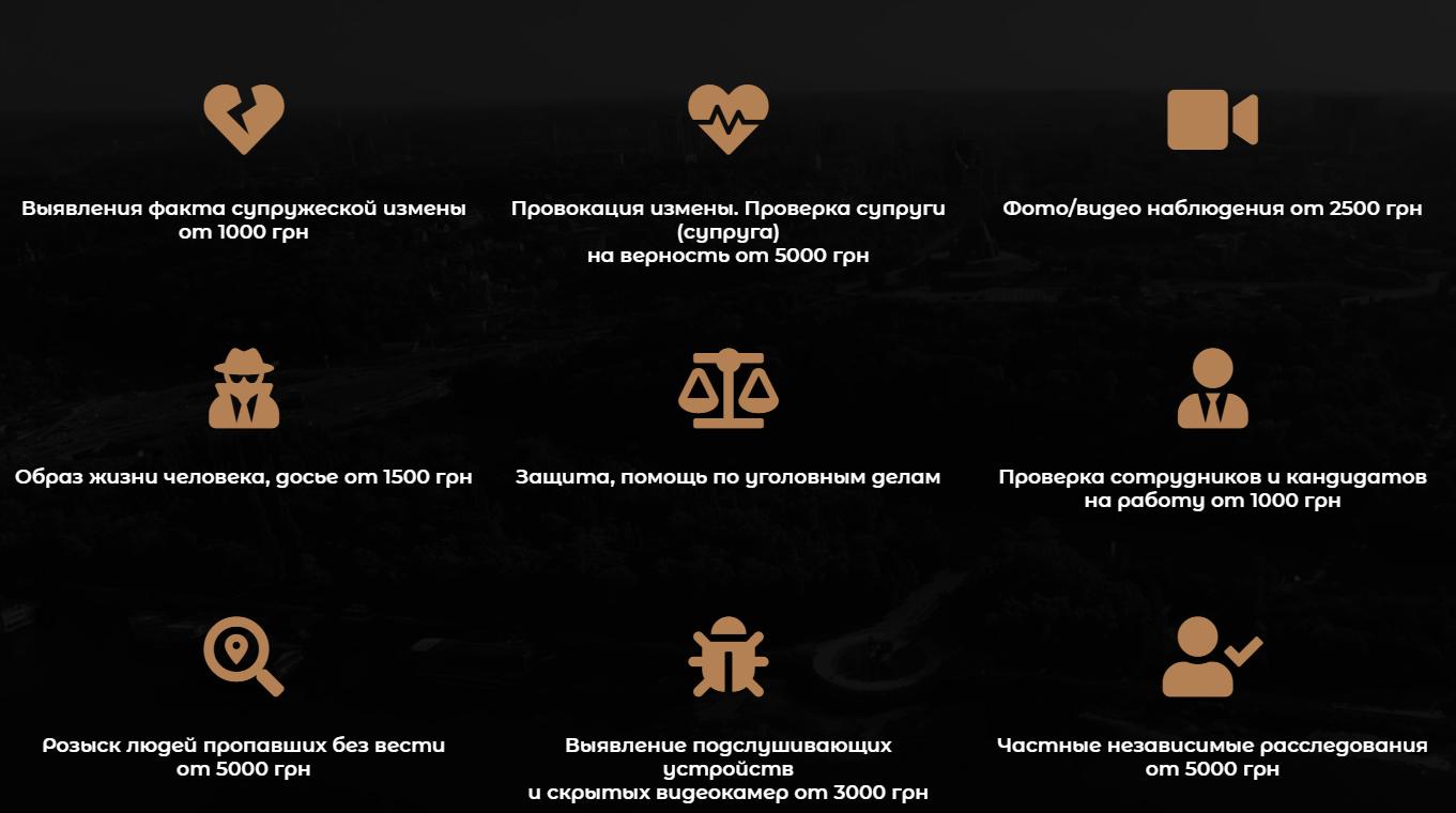 Услуги нелегального рынка частных детективов в Украине.