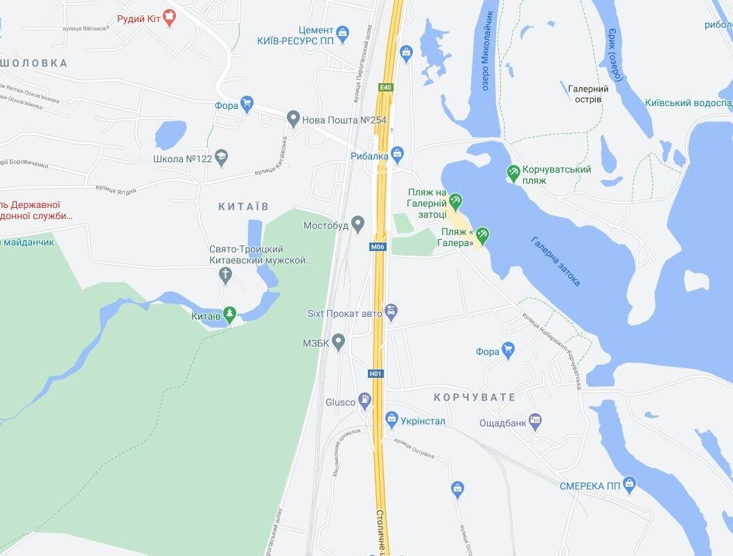 Авария произошла на Столичном шоссе.