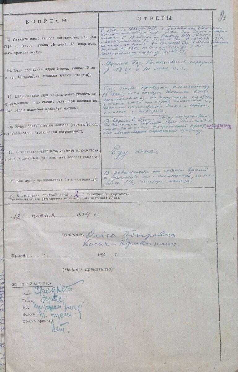 Документи з архіву про життя сім'ї Косач у Вінниці