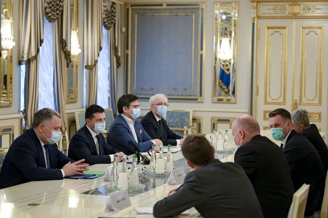 Зеленський зустрівся з міністром закордонних справ Литви