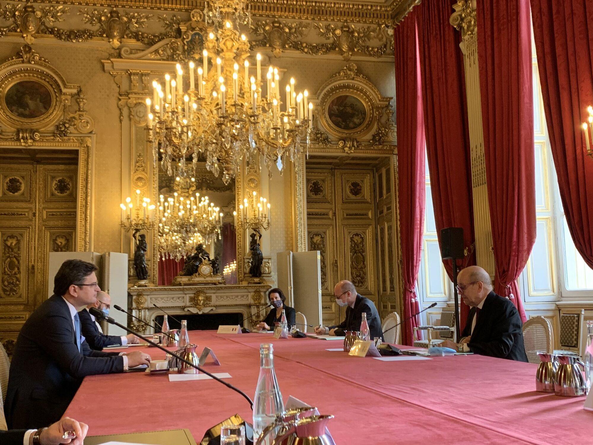 Зустріч з главою МЗС Франції.
