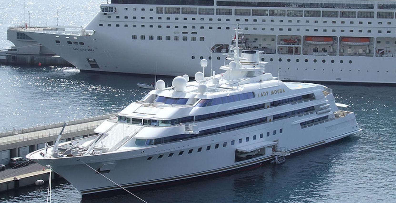 Яхта Lady Moura стоит 210 миллионов долларов
