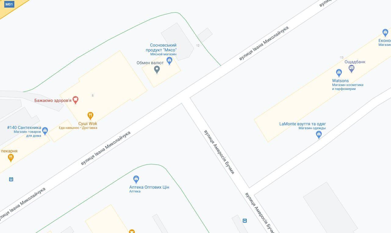 ДТП произошло на пересечении улиц Бучмы и Миколайчука.