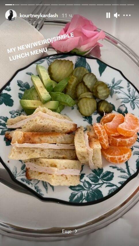 Кортні Кардаш'ян обожнює сандвічі та вміє робити їх корисними