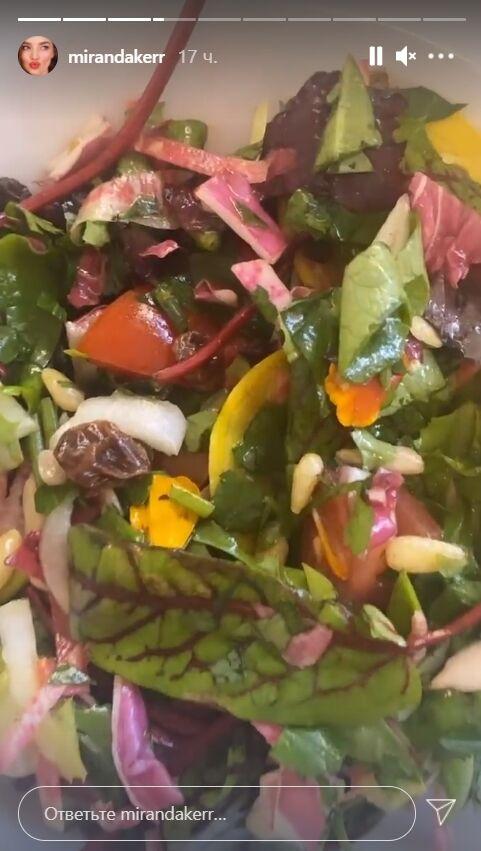 Супермодель Міранда Керр стежить за фігурою, тому харчується переважно салатами