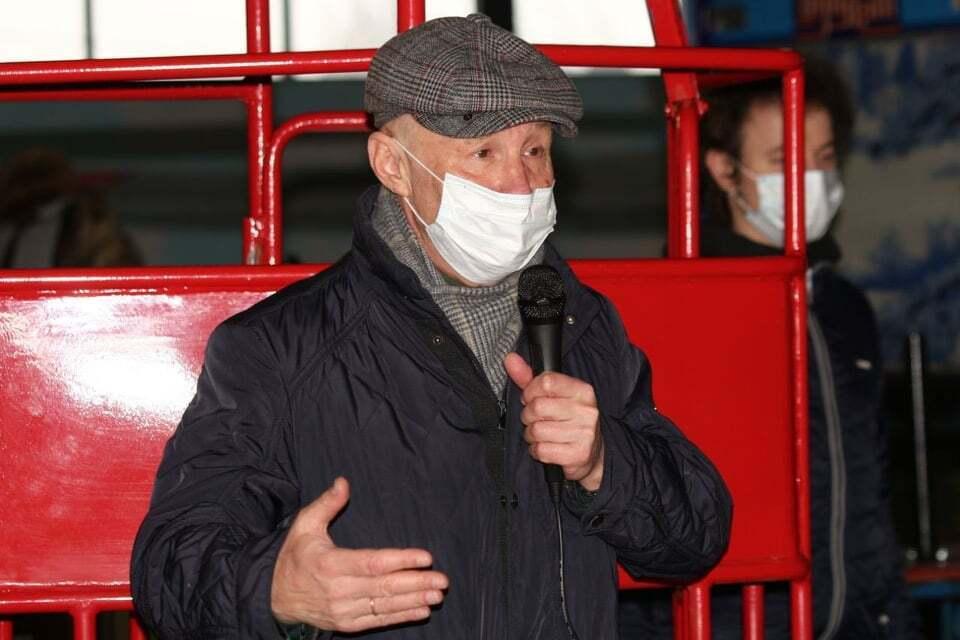 Керівник художньої ради при міському голові Григорій Гельфер був присутній на відкритті
