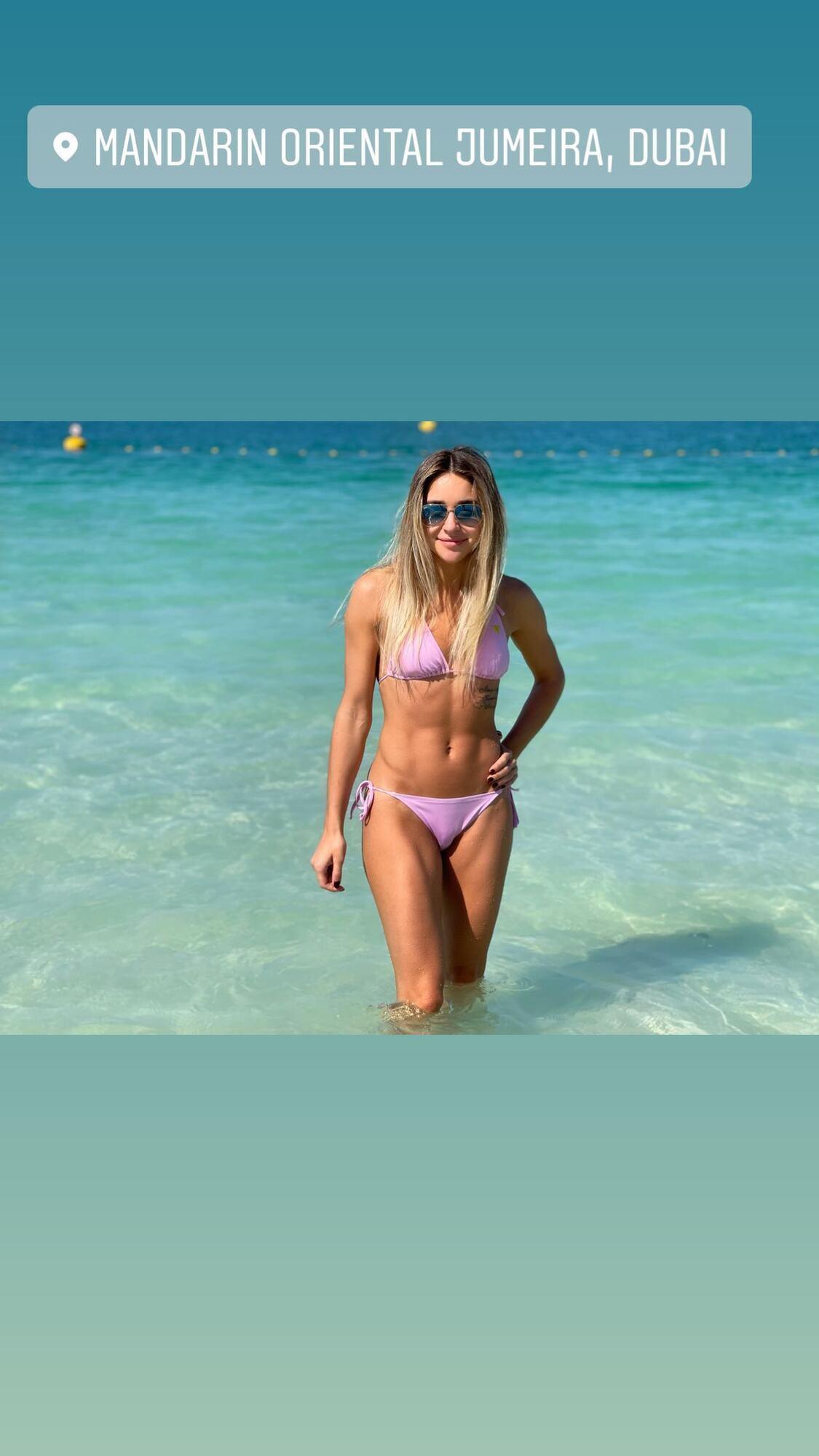Анжелика Терлюга на пляже