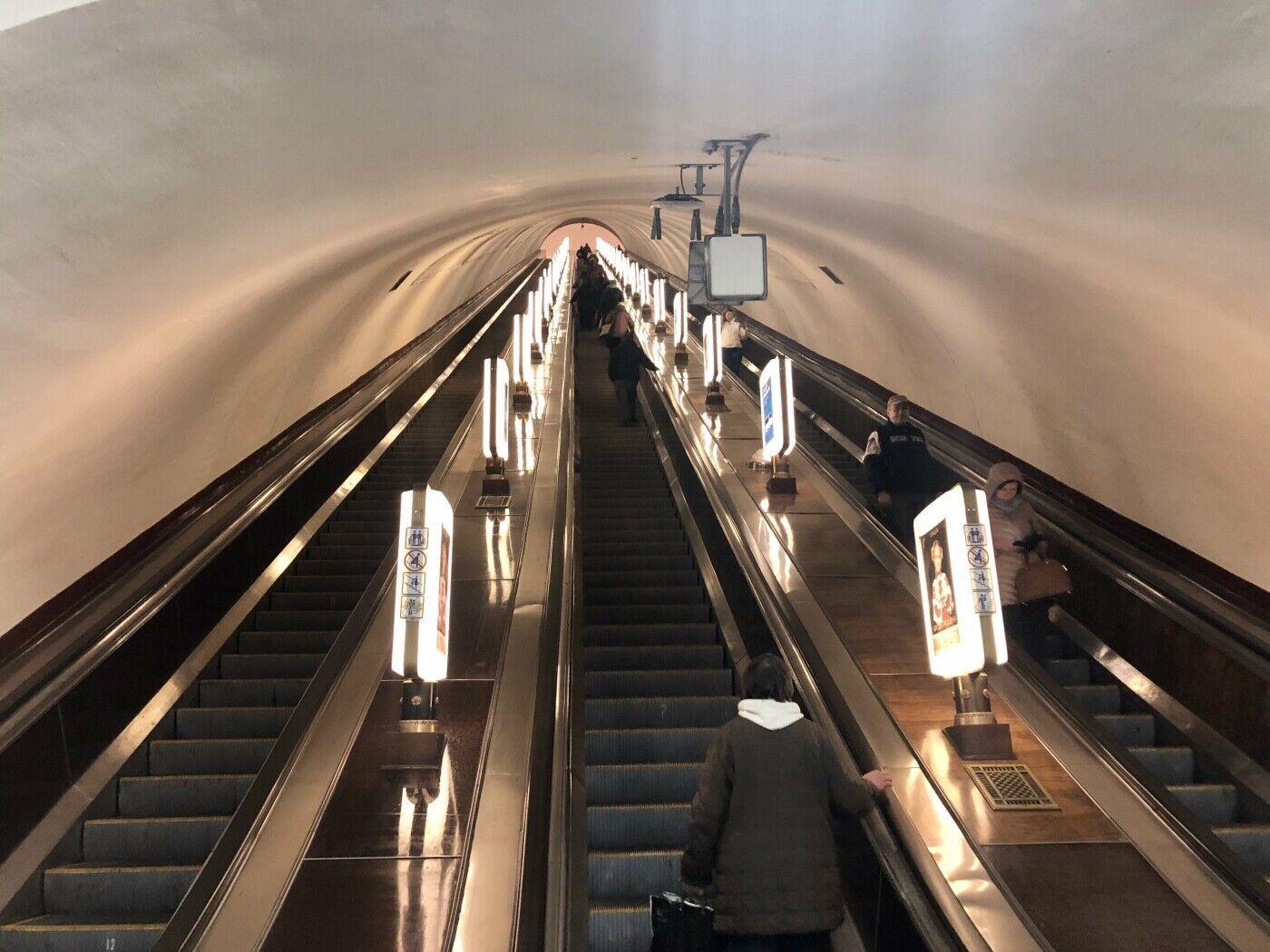 На станции установлены самые длинные эскалаторы в Европе