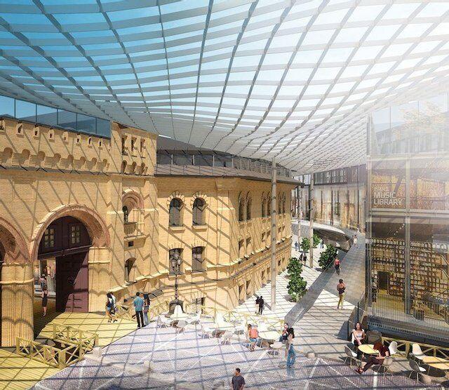 В планах у строителей создание стеклянной галереи