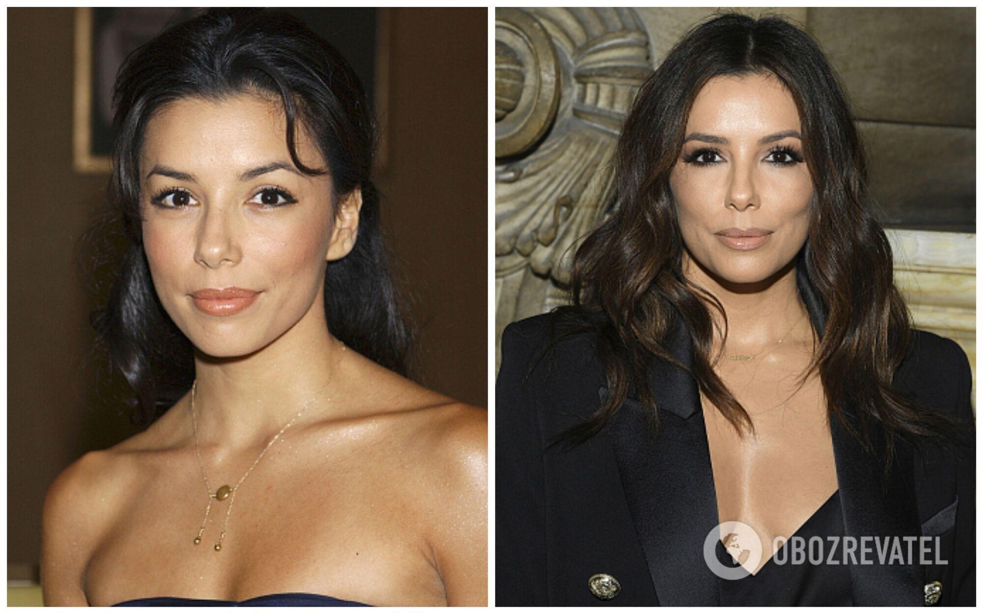 Єва Лонгорія в 2003 і 2019 році