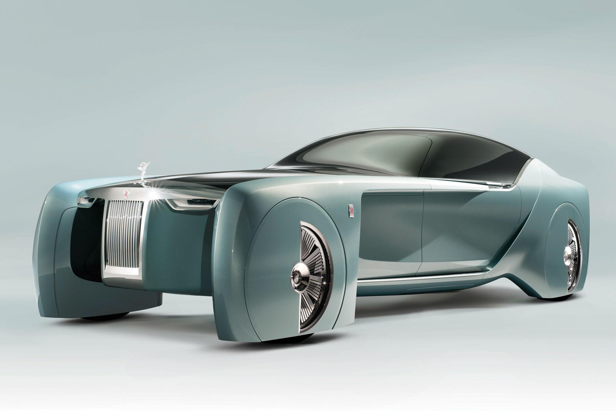 Концептуальний електромобіль Rolls-Royce 103EX було презентовано у 2016 році