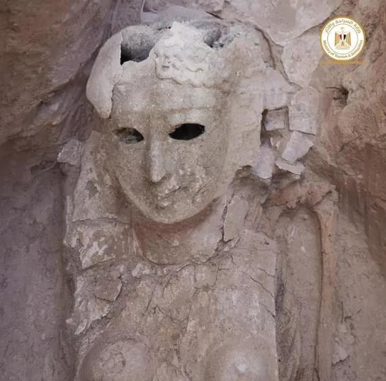 Останки женщины в маске