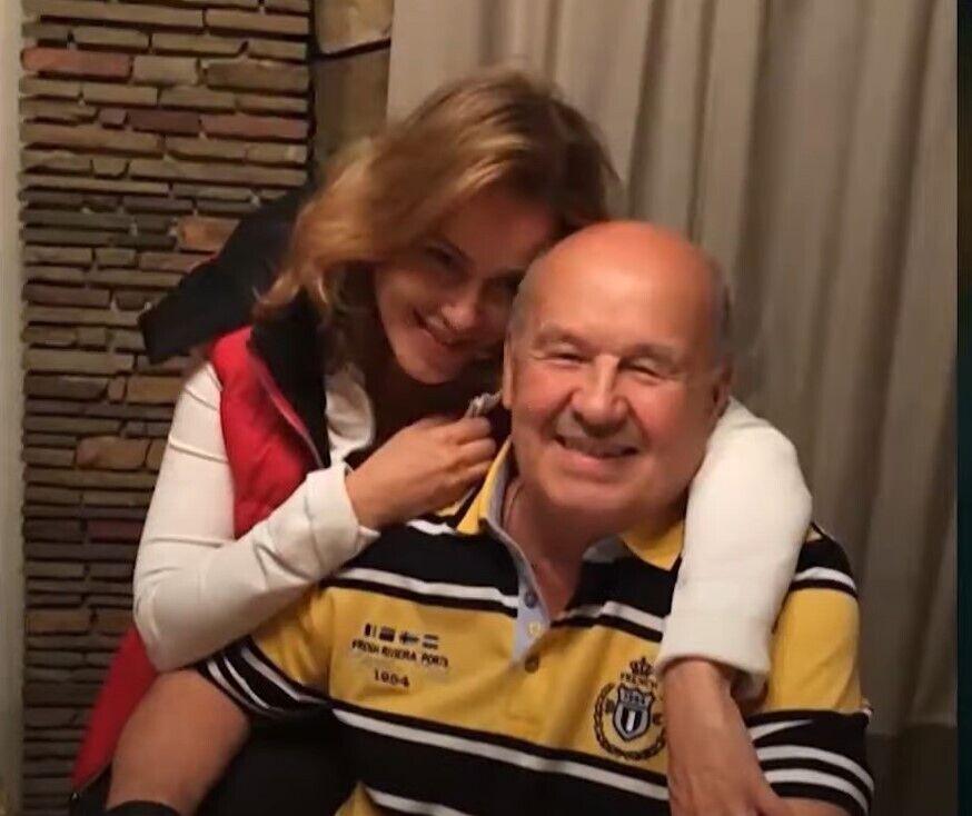 Наталья Королевская с отцом.